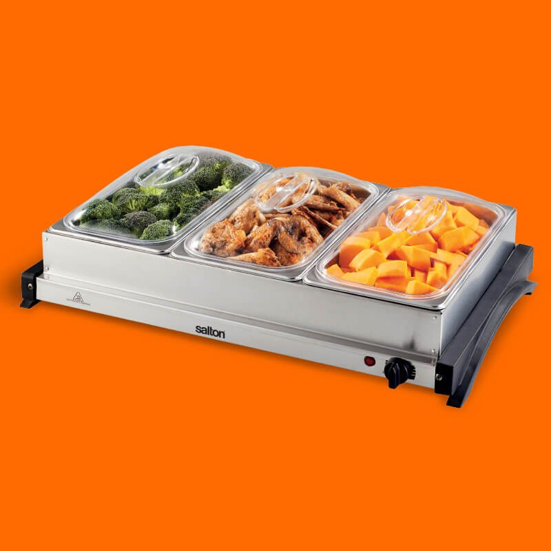 7l Buffet Server & Hot Tray Combo