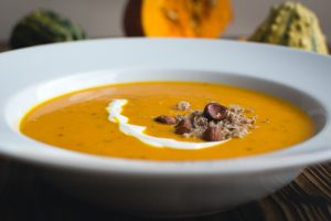 Chunky Spicy Pumpkin, Samp And Bean Soup