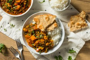 Homemade Spicy Vegan Vegetable Curry